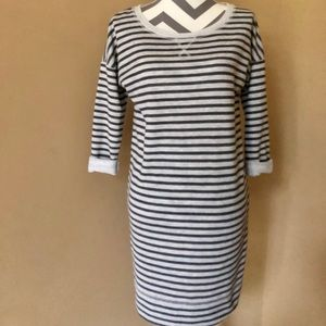 Caslon Striped Sweatshirt Dress